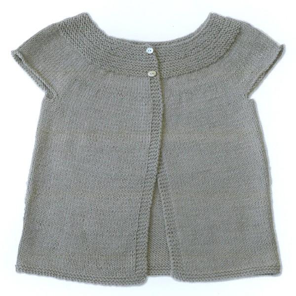 Sleeveless Cardigan Knitting Pattern : CITRONILLE knitting pattern N?48, Sleeveless cardigan. - La Mercerie Parisienne
