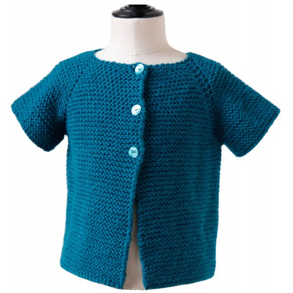 CITRONILLE knitting pattern N?56, Short-sleeved cardigan. - La Mercerie Paris...