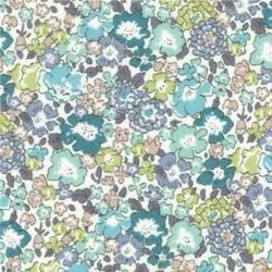Tissu Liberty Michele, col. Mer du Nord, Aqua, Ardoise Bleue