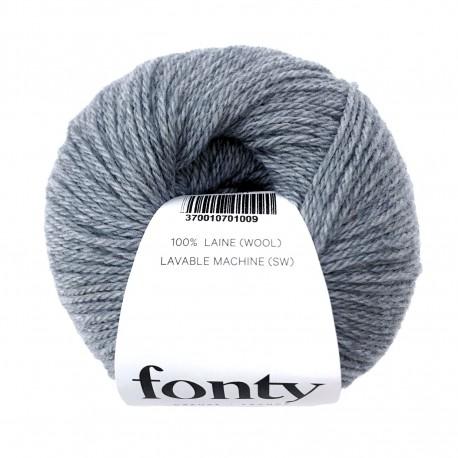 FONTY wool knitting yarn qual. TARTAN col. Azur 2010