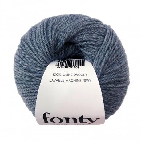 Laine à Tricoter TARTAN de Fonty, col. Bleu Horizon 2011