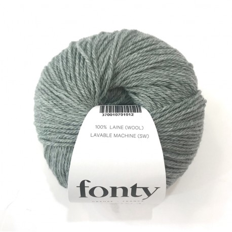 FONTY wool knitting yarn qual. TARTAN col. Green-Grey 2013