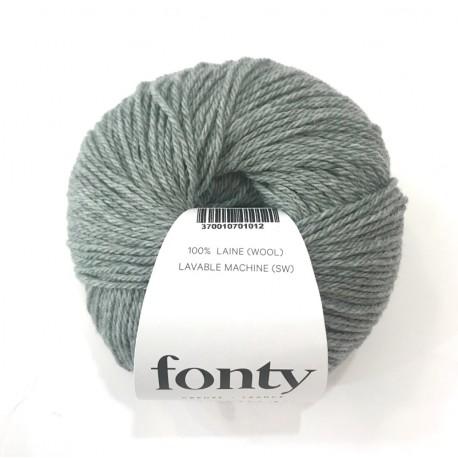 Laine à Tricoter TARTAN de Fonty, col. Vert de Gris 2013