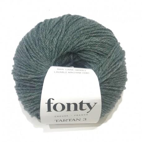 Laine à Tricoter TARTAN de Fonty, col. Eucalyptus 2014