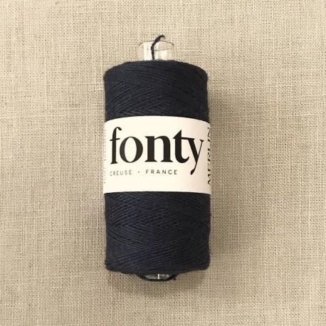 Linen Thread Merlin by Fonty, col. Black