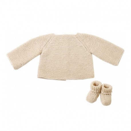 CITRONILLE knitting pattern N°64, sweater and slippers in organic cotton