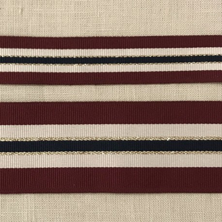 Medoc and Lurex Tricolor Grograin Ribbon