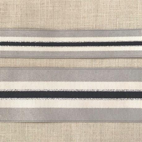 Pearl and Lurex Tricolor Grograin Ribbon