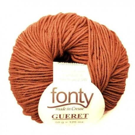 FONTY merino knitting yarn, qual.GUERET, col. Sienna Color 28