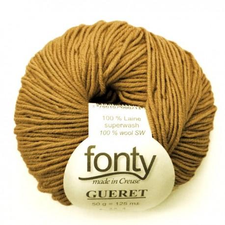 FONTY merino knitting yarn, qual.GUERET, col. Bronze 44