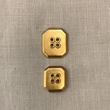 Metal Button Rectangle, col. Gold