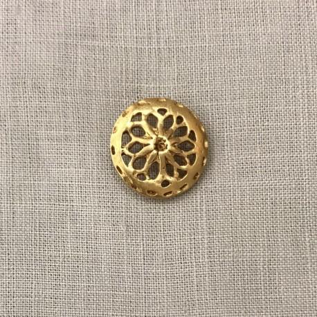 Metal Button Rosette, col. Gold