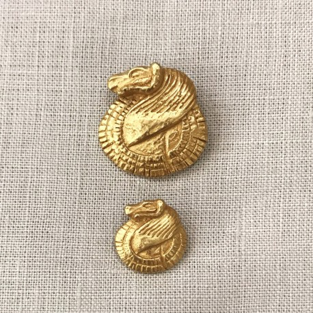 Metal Button Antik Ram, col. Gold