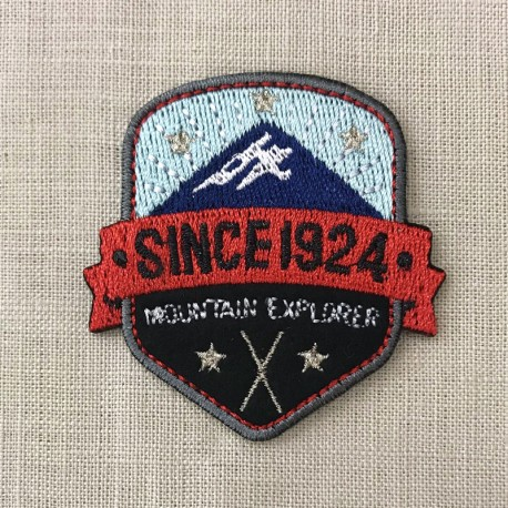 Ecusson Mountain Explorer, col. Glacier