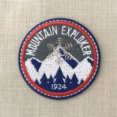 Ecusson Mountain Explorer, col. Orage