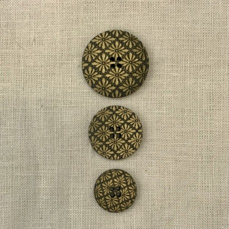 Polyester Button Versailles, col. Chestnut/ Old Gold
