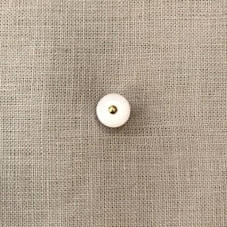 Bouton de Bottine en Polyester Dandy, col. Blanc Nacré
