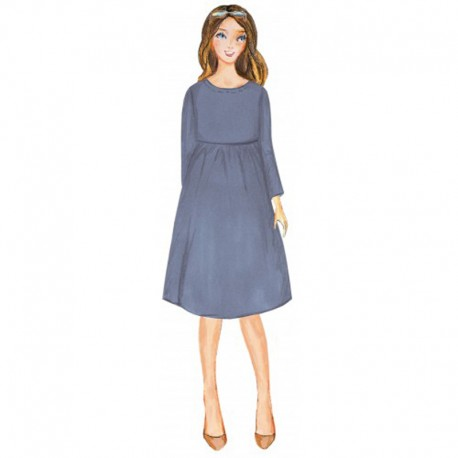 Citronille pattern N°76ter, Dress Violette . Sizes 36 to 46