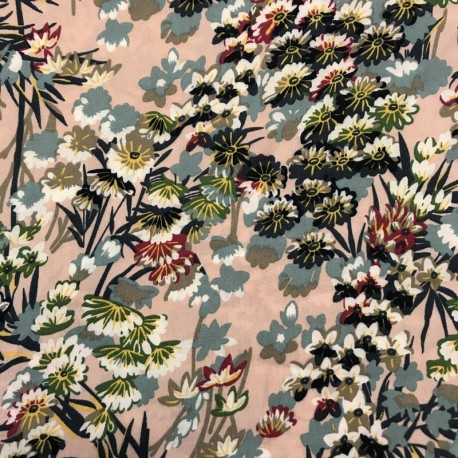 Light Viscose Fabric Jardin d'Aurore
