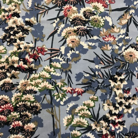 Light Viscose Fabric Jardin d'Azur