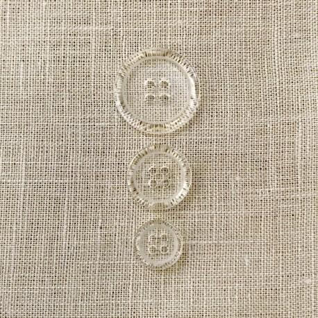 Button Polyester Transparent Gasper