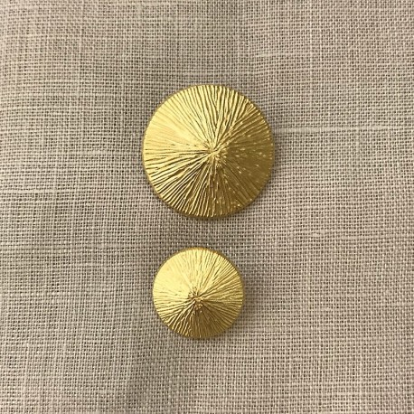 Metal Button Rice Riziere, col. Mat Gold