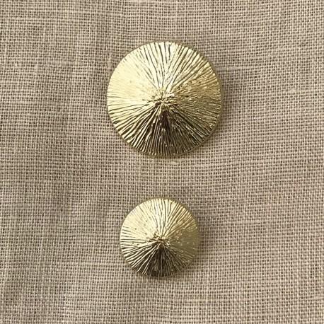 Metal Button Rice Riziere, col. Bright Gold