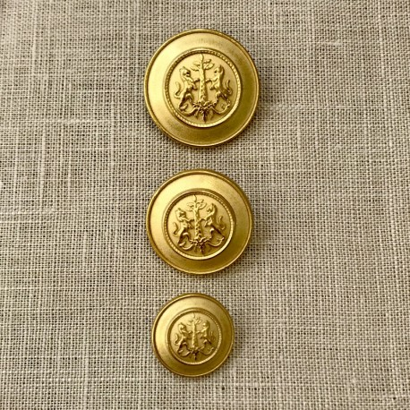 Metal Button James, col. Gold