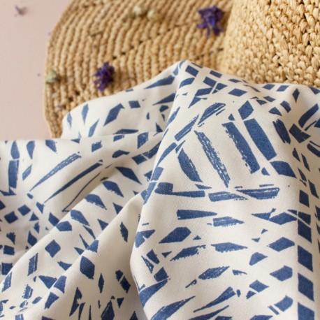 Atelier Brunette Fabric, Shade Cobalt