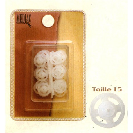 Transparent Snap Fasteners, size 15mm