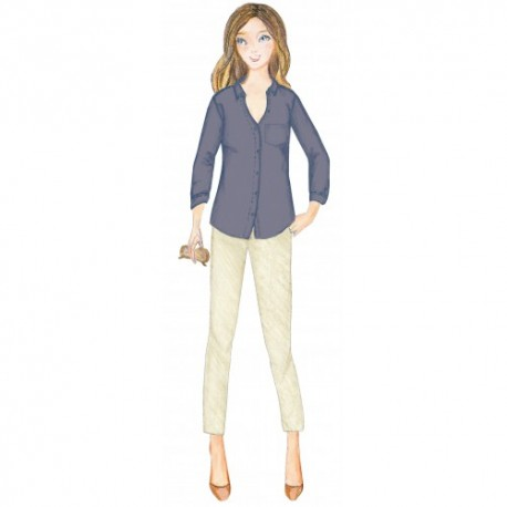 Citronille Sewing Pattern, Shirt Tiphaine Sizes 36 to 46