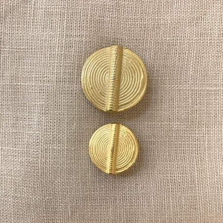 Disk Metal Button Mali, col. Light Gold