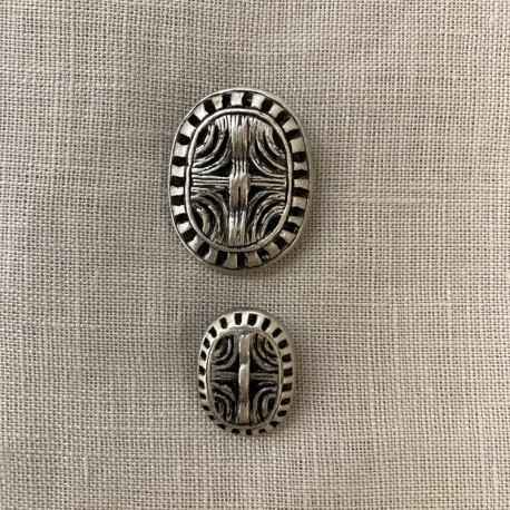 Metal Button Nairobi, col. Silver