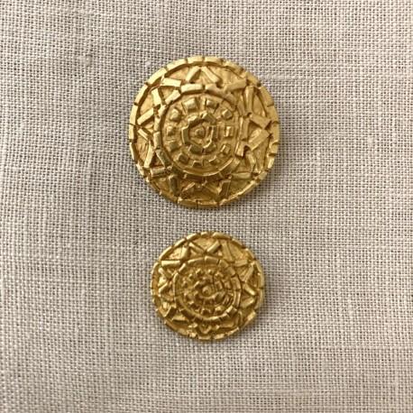 Metal Button Mykonos, col. Gold