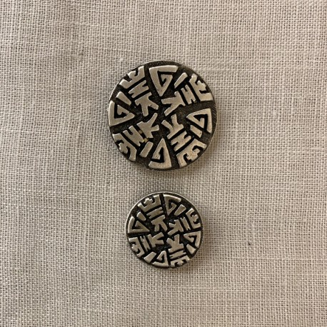 Metal Button Atlantide, col. Silver