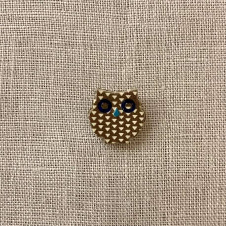 Children Button La Petite Forêt, Houhou The Owl, col. Moka/ Vanilla