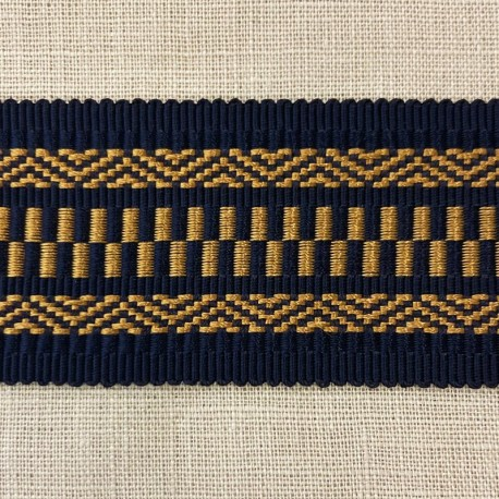 Jacquard Ribbon Parade, col. Navy/ Antik Gold