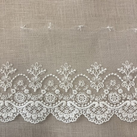 Embroidery Tulle Lace Trianon, Col. White