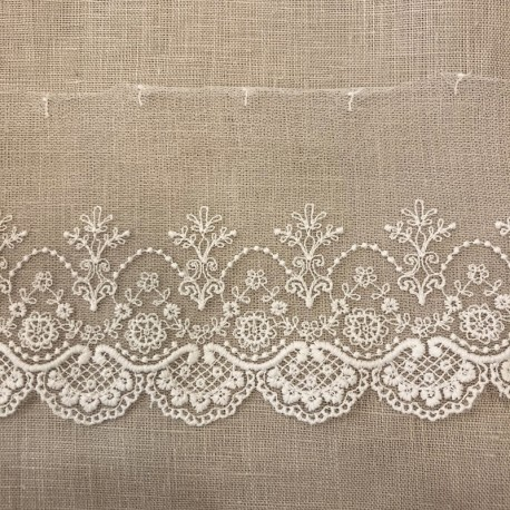 Embroidery Tulle Lace Trianon, Col. Ivory
