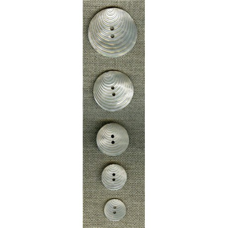 Mother-of-pearl button Pop 70's, White