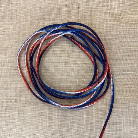 Passementerie Queue de rat Panachée, col. Bleu, Blanc, Rouge