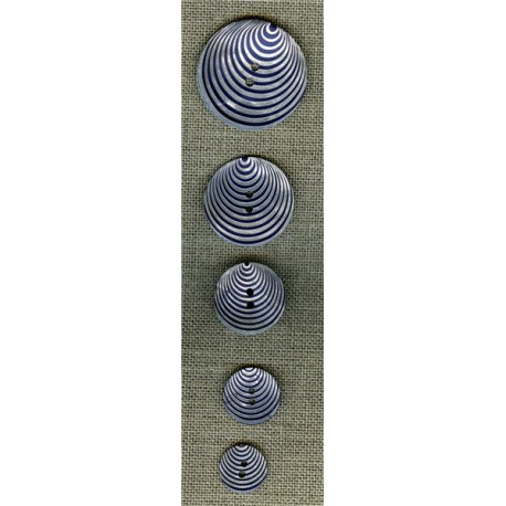 Mother-of-pearl button Pop 70's, Navy