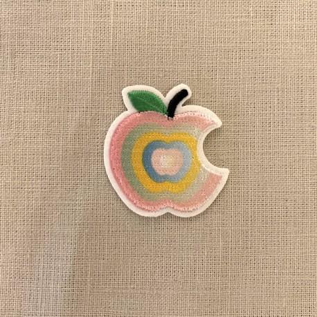 Ecusson Croque La Pomme, col. Pastel