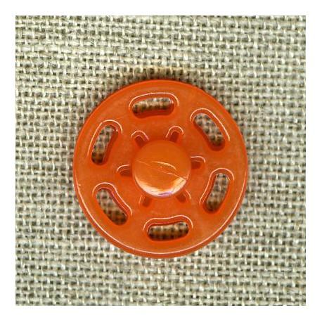 Color Snap Fastener Plastic Button, col. . Marmalade