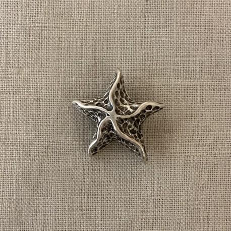 Metal Button Astérie, col. Silver