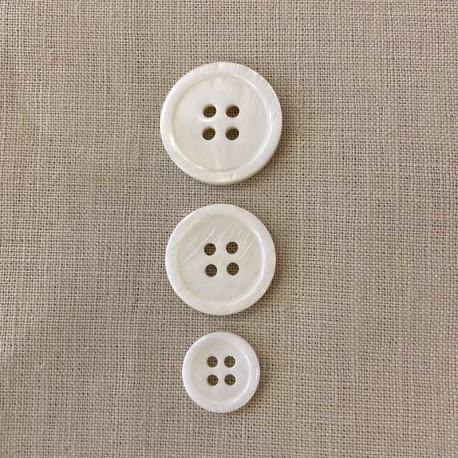 """Natural Mother of Pearl Jacket Button """"Veston"""""""