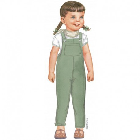 Citronille Pattern N° 226, Overall Charlie. Ages 2. 4. 6. 8 a