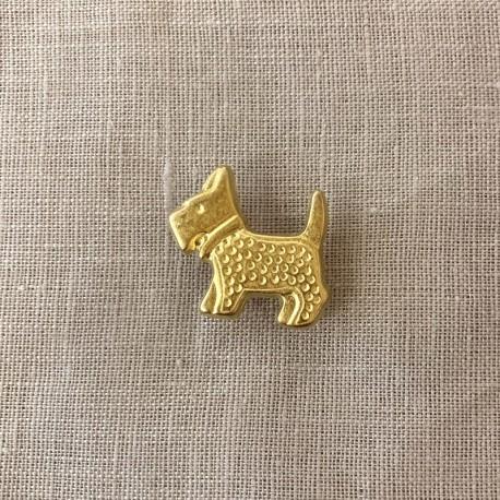 Scott The Dog Button, col. Light Gold