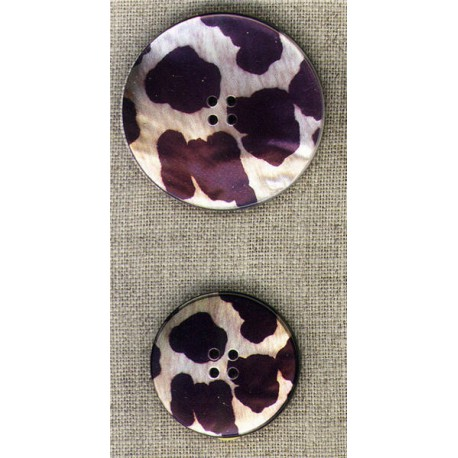 Mother-of-pearl with cow print