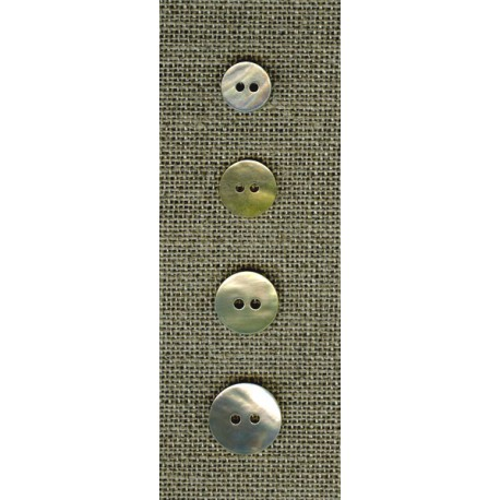 Simple mother-of-pearl buttons, small sizes